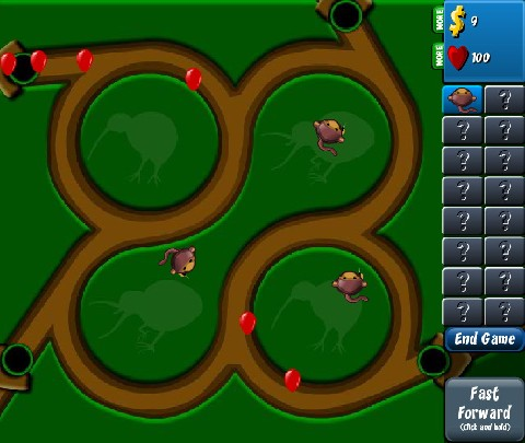 Onlinovka, online hra Bloons Tower Defense 4