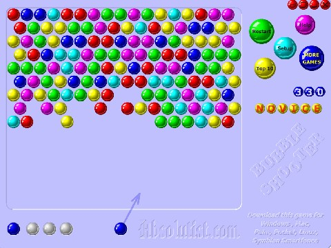 Onlinovka, online hra Bubble shooter