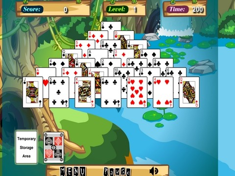 Onlinovka, online hra Jungle solitaire